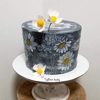 Painted daisy:)