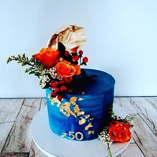 Autumn flowers  - Cake by alenascakes