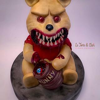 The dark side of Winnie the Pooh my piece for CREEPY WORLD CAKE COLLABORATION by Brenda Salcedo