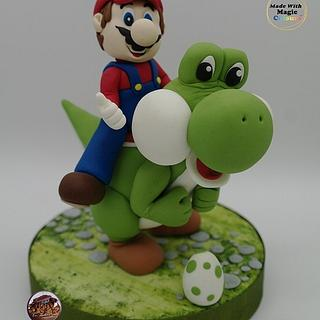 Super Mario and Yoshi - Cake by Eve´s Zucker-Himmel