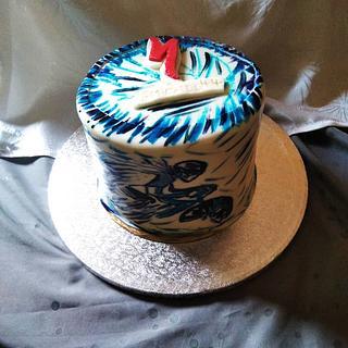 Birthday cake  - Cake by Cups'& Cakery Design