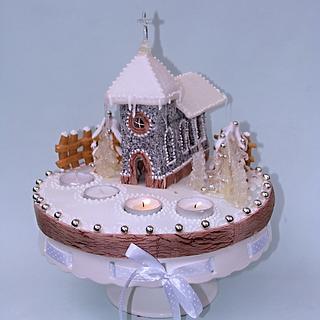 Church made of honey cookies