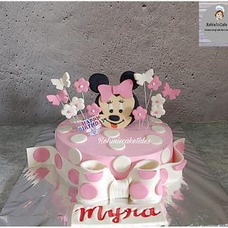 Minnie mouse theme cake  - Cake by Rohini Punjabi