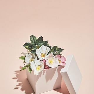 Sugarflower gift box - Cake by Eszter Kanyári