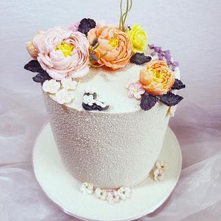 Flowers cake - Cake by SLADKOSTI S RADOSTÍ - SLADKÝ DORT
