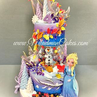 Elsa Frozen 2 Cake / Торта Елза от Замръзналото кралство 2
