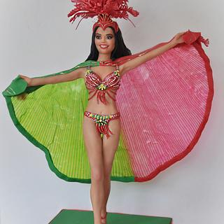 Miss Universe, Sylvie Silva - Portugal Wonders in Sugar - Cake by Sandra Smiley