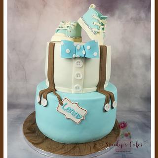 Baptism Cake Boy  - Cake by Sandy's Cakes - Torten mit Flair