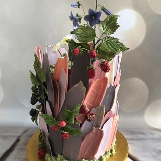 Meadow on cake
