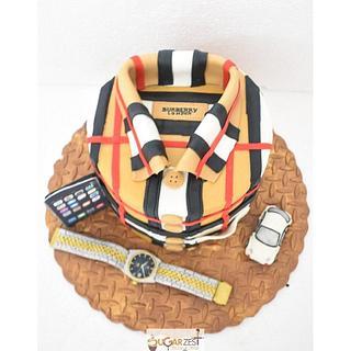 Burberry shirt cake  - Cake by Sugarzest