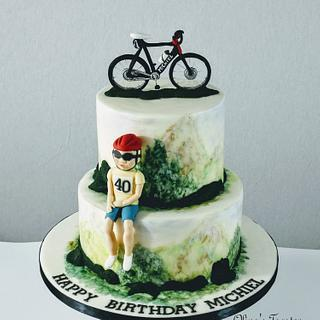 Cake for a cyclist