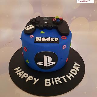 """Play station stick cake"" - Cake by Noha Sami"