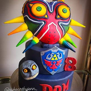 Majoras mask  - Cake by Jenn Szebeledy  ( Cakeartbyjenn_ )