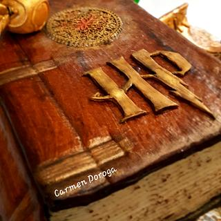 Harry Potter spell book  - Cake by Carmen Doroga