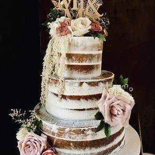 Rustic Art - Cake by The Noisy Cake Shop