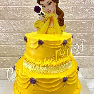 belle beauty and the beast - Cake by Rawansadek