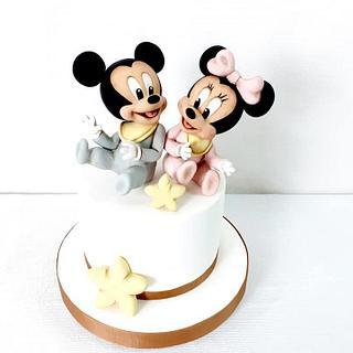 Mickey/Minnie babies - Cake by Nicole Veloso