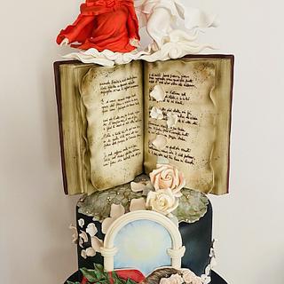 Dante e la Divina Ispiratrice - Cake by Romina Novellino