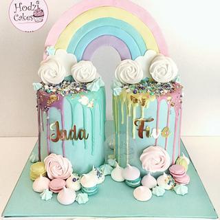 Rainbow drip Cakes🌈🤗💗 - Cake by Hend Taha-HODZI CAKES