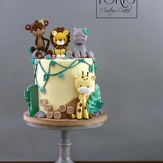 Jungle theme first birthday