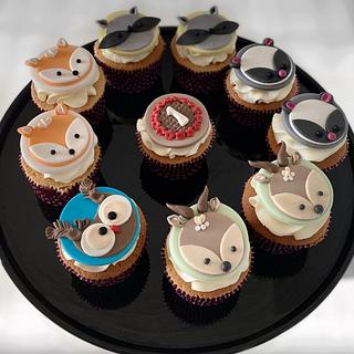 Forest friends cupcakes