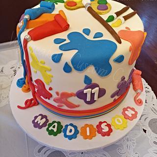 Paint Art Themed Cake