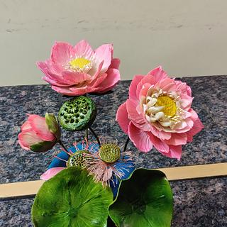 Lotus family - Cake by Dr RB.Sudha