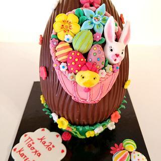 Easter egg basket  - Cake by My Sweet World_Elena