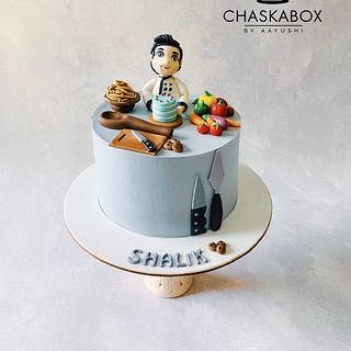 Chef theme cake in Whip cream - Cake by Chaska Box