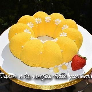Yellow modern cake