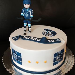 young hockey player - Cake by OSLAVKA