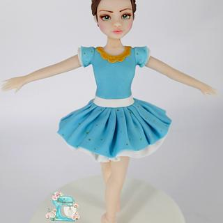 Ballerina cake topper  - Cake by Arianna