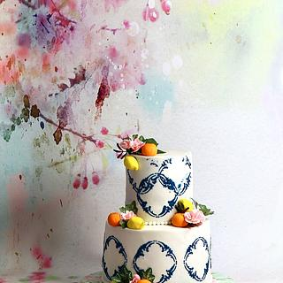 Tuscan theme cake