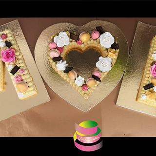 Wedding letter cake