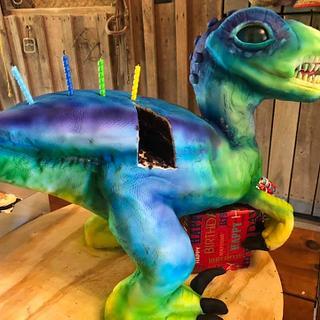 dinosaur cake - Cake by WitchyCaker