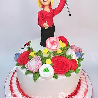 Goodbye crutch !☺️ - Cake by Filomena
