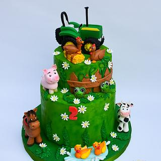 Farm cake with tractor - Cake by Benny's cakes