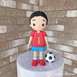 Football Player Cake Topper - Cake by Crumb Avenue