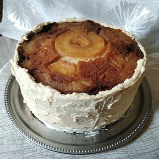 Rustic textured pineapple cake