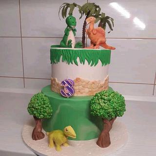 Dinosaur cake - Cake by Tortalie