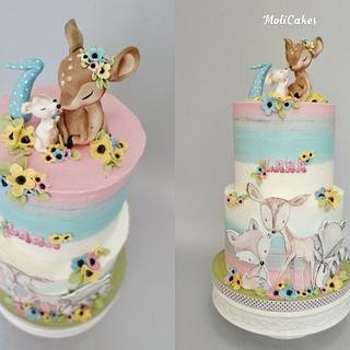 Forest animals - Cake by MOLI Cakes