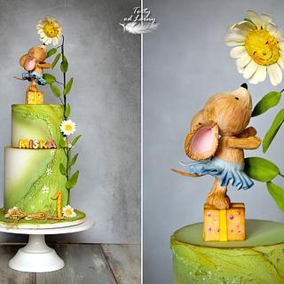 Little mouse and daisy  - Cake by Lorna