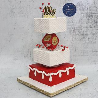 100 yrs celebration cake