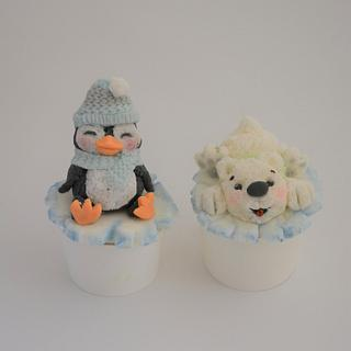 Arctic Animals Cupcakes