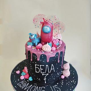 Among us cake - Cake by Tanya Shengarova