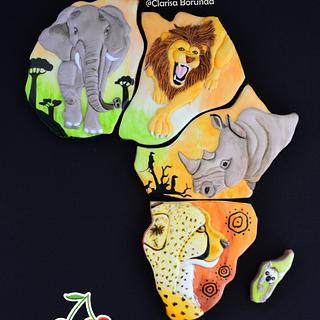 Wild Animals Cookie - African Pride Collab - Cake by Clarisa Borunda