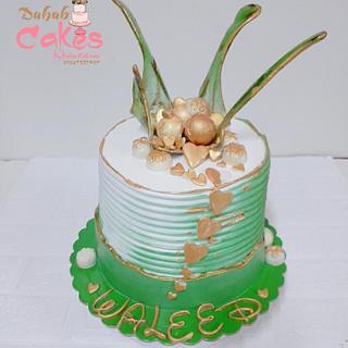 Suger glass cake