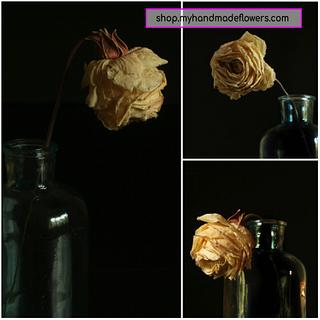 Faded Rose Flower ( Made with FR Veiner ) - Cake by Christina Wallis Flowers  & Veiners