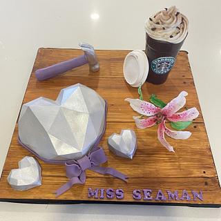 Coffee and diamonds  - Cake by Rhona