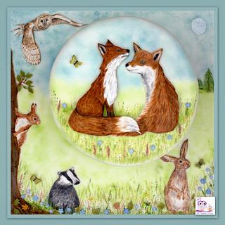 Foxes in the meadow
